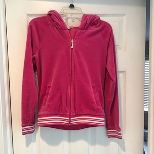 Juicy couture pink zip up size M